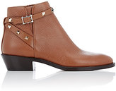 Valentino Women's Rockstud Ankle Boots-BROWN, GOLD