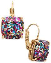 Kate Spade Gold-Tone Glitter Drop Earrings