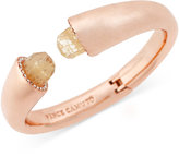 Vince Camuto Rose Gold-Tone Stone Bangle Bracelet