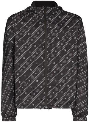Fendi Karligraphy logo hooded jacket