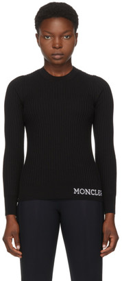 Moncler Black Pleated Logo Sweater