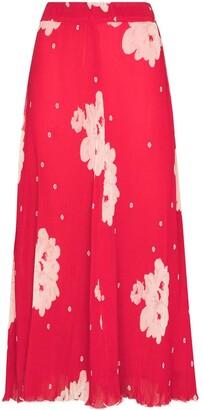 Ganni Floral Georgette Skirt