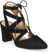 Rialto Milly Block-Heel Lace-Up Pumps