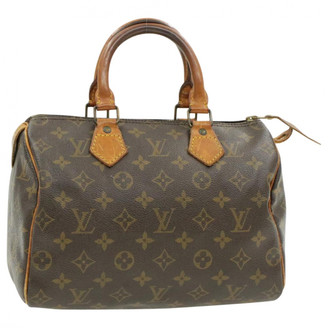 Louis Vuitton Speedy Doctor 25 Brown Cloth Handbags