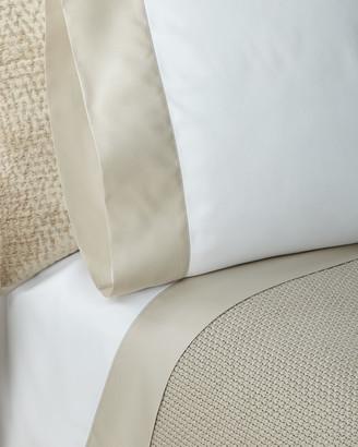 Ralph Lauren Home RLC Pique Border Satin King Pillowcases, Set of Two