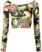 Isolda printed crop top