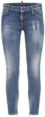 DSQUARED2 Twiggy Denim Skinny Jeans W/ Back Logo