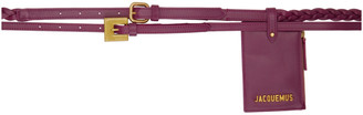 Jacquemus Purple La Double Ceinture Pouch Belt