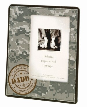 Lillian Rose Camouflage Baby Picture Frame For Dad