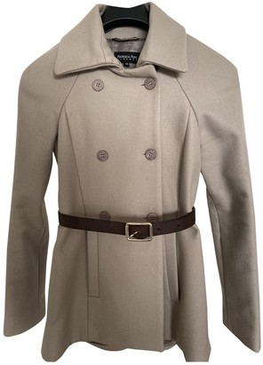 Patrizia Pepe Grey Wool Coat for Women