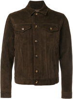 Eleventy button up jacket - men - Suede/Cupro - 52