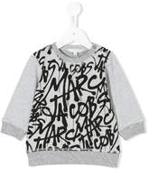 Little Marc Jacobs graffiti logo print sweatshirt