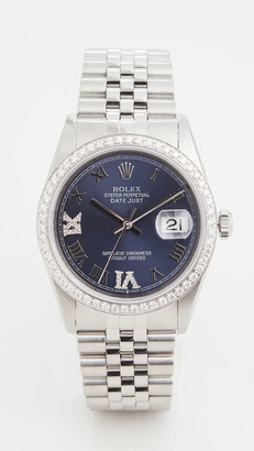 Rolex Pre-Owned 36mm Gents Rolex Date Just Purple Watch