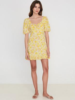 Faithfull The Brand Agathe Puff Sleeve Mini Dress