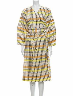 Baum und Pferdgarten Printed Midi Length Dress w/ Tags Yellow