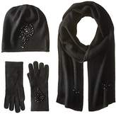 La Fiorentina Women's Jeweled Cashmere Scarf, Hat, and Glove Set