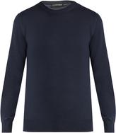 Alexander McQueen Shoulder-panel crew-neck sweater