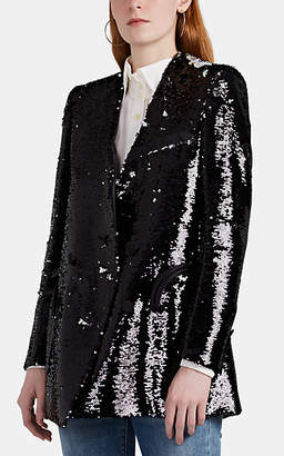 BLAZÉ MILANO Women's Sunset Sequined Double-Breasted Blazer - Black