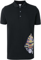 Loewe fossil patch polo shirt - men - Cotton/Polyester - S