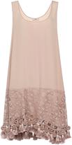 No.21 No. 21 Eyelet and Tassel Mini Dress
