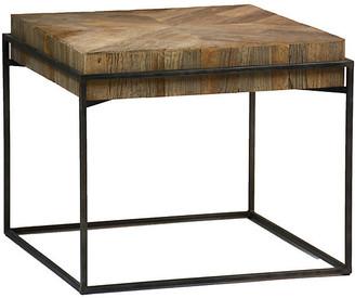 Carlyle Side Table - Elm/Black - Gabby