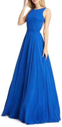 Mac Duggal Plunge Back Ball Gown
