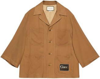 Gucci Viscose shirt with label