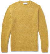 Officine Generale Slim-fit Brushed Virgin Wool Sweater - Yellow