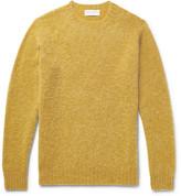 Officine Generale Slim-Fit Brushed Virgin Wool Sweater