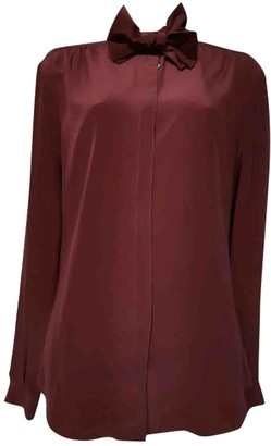 Burberry Burgundy Silk Top for Women