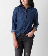 Daytrip Women's Chambray Shirt in Blue