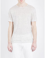 John Varvatos Striped Linen T-shirt