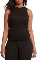 Lauren Ralph Lauren Plus Silk-Blend Sleeveless Sweater
