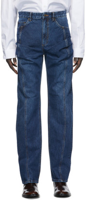 Y/Project Navy Ruffle Pocket Jeans