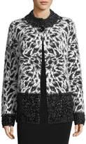 Neiman Marcus Cozy Yark Cardigan Sweater Jacket