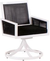 Koverton Parkview Woven Swivel Dining Chair, Blk