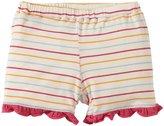 Kickee Pants Print Ruffle Shorts (Baby) - Girl Beach Stripe-3-6 Months