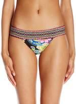 Trina Turk Women's Monaco Banded Brazillian Hipster Bikini Bottom