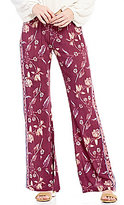 Billabong Turn To Me Floral-Printed Woven Smocked Wide-Leg Pants