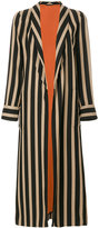 Etro - vertical striped coat