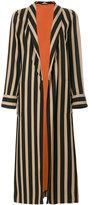 Etro vertical striped coat