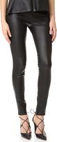Veronica Beard Palladium Leather Leggings