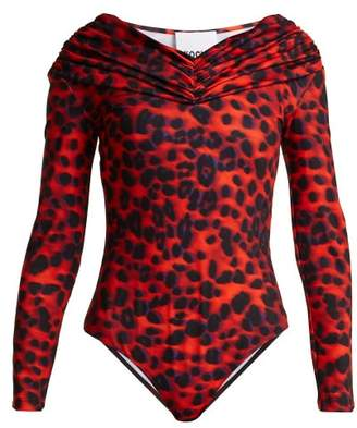 Koché Off The Shoulder Bodysuit - Womens - Red Print