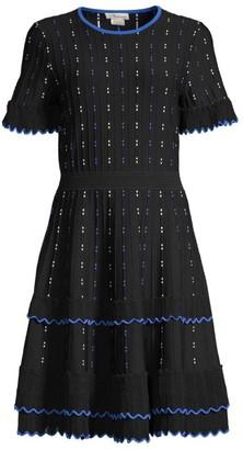 Shoshanna Maria Ruffle Knit Dress