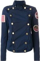Mr & Mrs Italy patched double-breasted fitted jacket