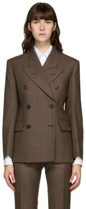 Maison Margiela Brown Wool Double-Breasted Blazer