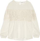 Chelsea Flower Broderie anglaise crepe top
