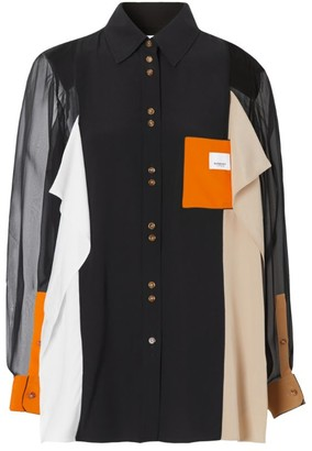 Burberry Colour-Block Silk Shirt