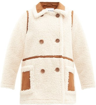 Stand Studio Chloe Faux-shearling Double-breasted Pea Coat - Ivory