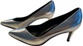 Aeyde Silver Leather Heels